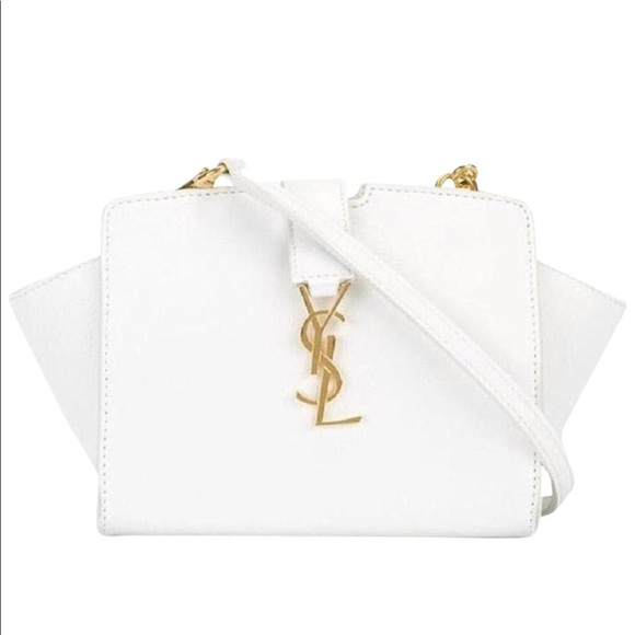 Toy Cabas Monogram Crossbody White Leather. NWT. Saint Laurent 7a885e6ee972f